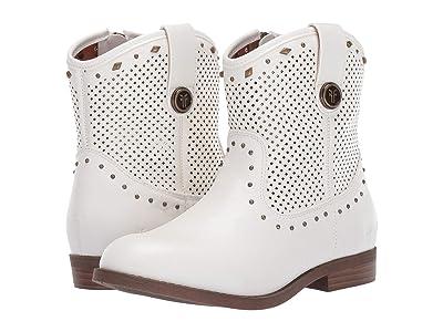 Frye Kids Mel Tri Stud (Little Kid/Big Kid) (White) Girls Shoes