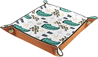 Vockgeng Tête de Crocodile de Dessin animé Boîte de Rangement Panier Organisateur de Bureau Plateau décoratif approprié po...