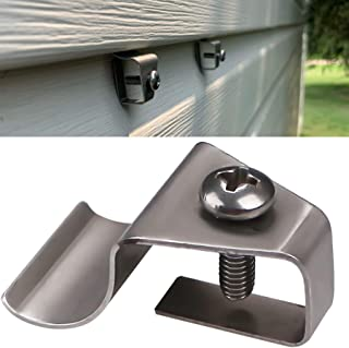 (10 Pack) Vinyl Siding Clips Hooks No-Hole Needed Outdoor Siding Screws Hanger for Mount Home Security Camera
