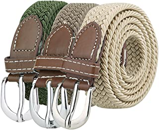 """uxcell® Women Elastic Stretchy Braided Woven Alloy Buckle Casual Belt Width 1"""""""
