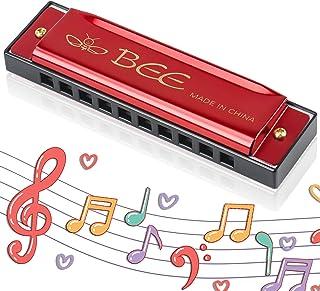 Harmonica Enfants, Harmonica Diatonique, Harmonica10 Trous pour Enfants, Instrument pour Débutants, Cadeaux pour Les Étudi...