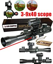 LED SNIPER Ledsnipertactical Holographic Red//Green Reflex Scope Sight Combo 4 Reticles 12 Month Warranty