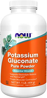 NOW Supplements, Potassium Gluconate Pure Powder 175 mg, Essential Mineral*, 1-Pound