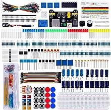 Keywishbot Electronic Component Super kit with Resistor Transistor RGB Capacitor LED Buzzer Switch Potentiometer for Arduino UNO Nano,MEGA2560, Raspberry Pi,STEM, Micro:bit
