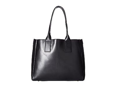 Frye Ilana Tote (Black Smooth Veg Tan) Tote Handbags