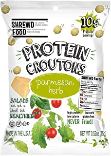 Shrewd Food Keto Protein Croutons, Low Carb, High Protein, Real Cheese, Gluten Free Snacks, No Artificial Flavors, Peanut ...