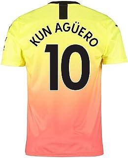 Camiseta de fútbol Manchester para niños, Kit de fútbol para Adultos, 19-20 de Distancia 10# Agüero 17# De Bruyne Vest Kit, Camiseta de fútbol Suave y cómoda
