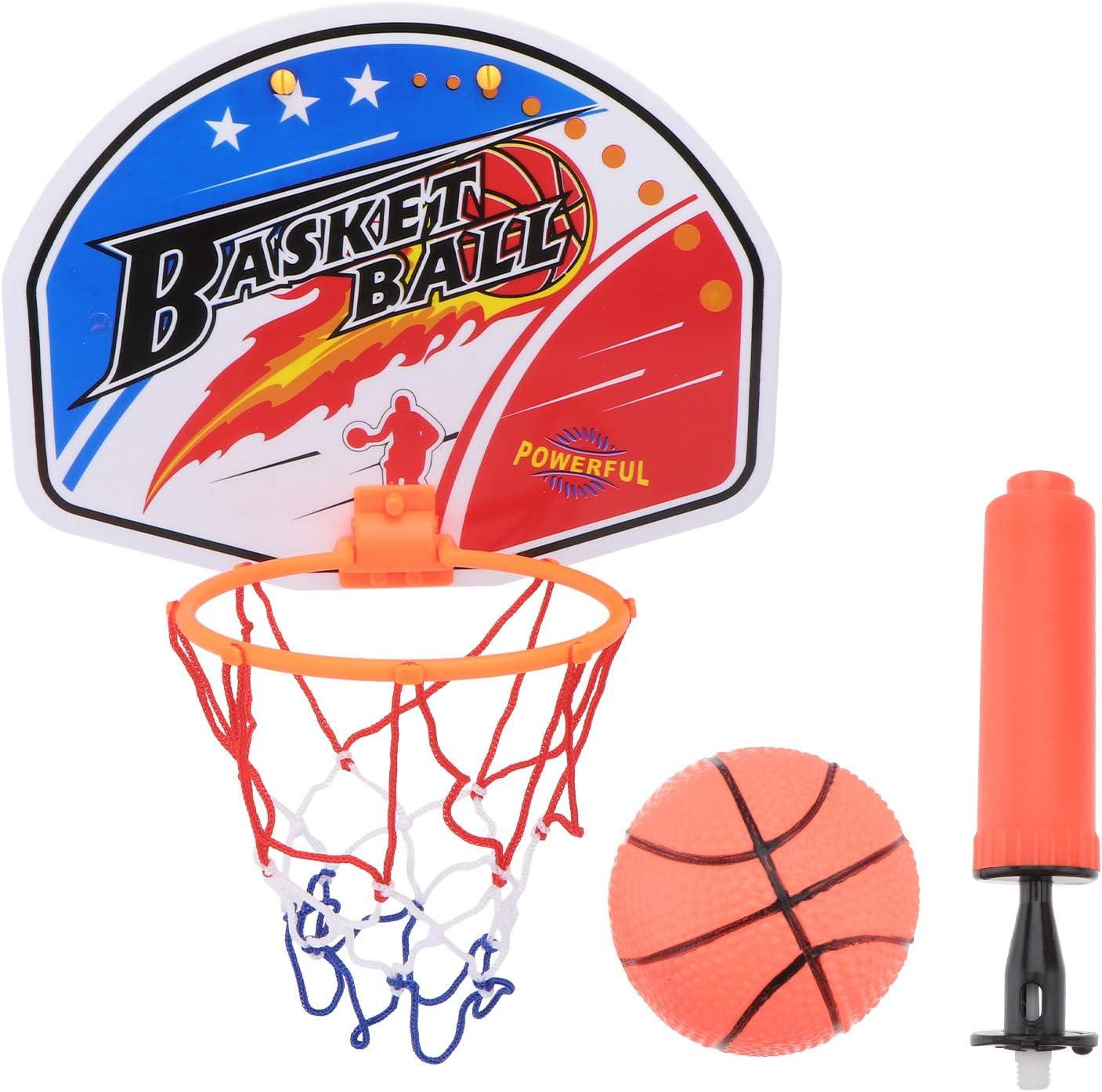 Abaodam 1 Set of Indoor Mini Basketball Plaything Cartoon Basket