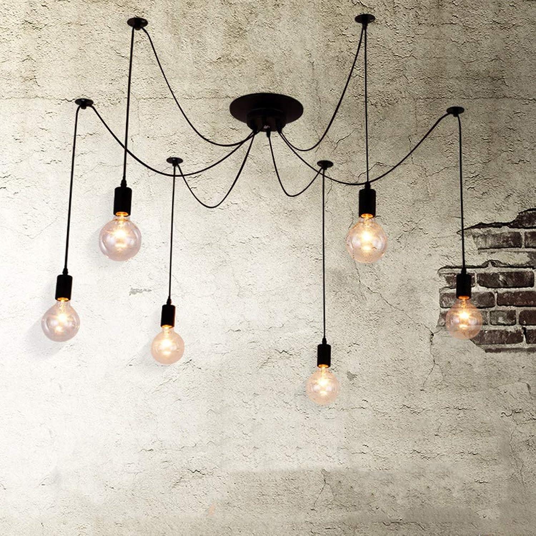 Lustre Rétro Industriel Jour Femme Lustre Nordic Simple Café Boutique Créatif Personnalité Edison Ampoule Lustre Lampes