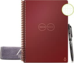 Rocketbook Smart Reusable Notebook - Dot-Grid Eco-Friendly Notebook with 1 Pilot Frixion Pen & 1 Microfiber Cloth Included...