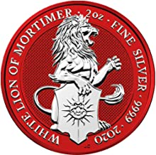 2020 GB Queen Beasts Coloured PowerCoin WHITE LION Mortimer Space Red Queen Beasts 2 Oz Silver Coin 5£ United Kingdom 2020 Proof