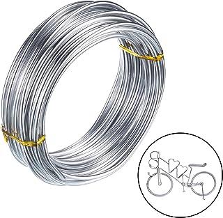 3mm Alambre de Aluminio Manualidades para Joyeria Fabricacion de Artesania Rebordear Floral-10 Metros (plata)