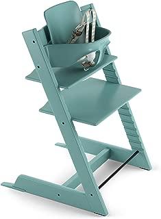 Stokke 2019 Tripp Trapp High Chair, Includes Baby Set, Aqua Blue