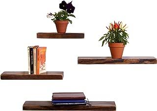 reclaimed wood floating corner shelf