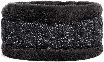 Wool Hat Scarf 2 Pieces Set Man Woman Thickening Winter Beanie Hat Scarves Soft Warm