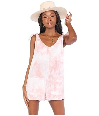 Show Me Your Mumu Tilda Tie Romper (Twisted Tie-Dye Pink) Women