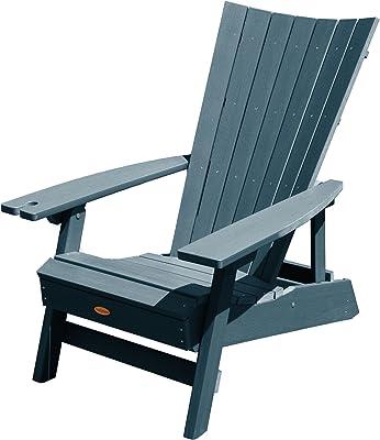 Highwood AD-ADRID29B-NBE Manhattan Beach Adirondack Chair, with Wine Glass Holder, One Size, Nantucket Blue