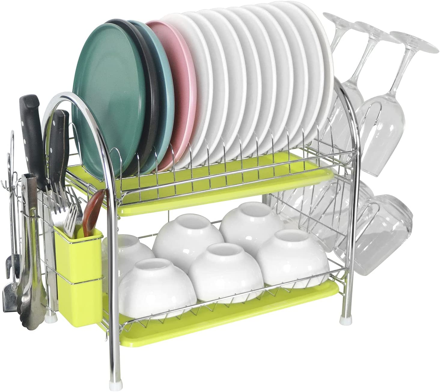Dish Under blast sales Drying Rack YESURPRISE Stainless an Tier Steel 2 New product type