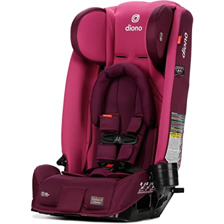 Diono Radian 3RX 3-in-1 Rear and Forward Facing Convertible Car Seat, Adjustable Head Support & Infant Insert, 10 Years 1 Car Seat Ultimate Safety and Protection, Slim Fit 3 Across, Pink Blossom