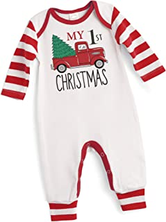 Tesa Babe Christmas Santa Baby Clothes My First Rompers for Newborns to Toddlers Baby Boys Girls, Multi