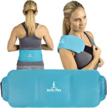 Arctic Flex Cold Wrap (Large) - Flexible Gel Ice Therapy Compression Pack - Hot Heat Compress Strap Pad for Back, Neck, Shoulder, Knee, Ankle, Calves and Elbow Muscle Injuries, Pain Relief - Reusable
