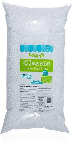 Fairfield Poly Fil Bean Bag Filler 2 5 Pound Refill Bag Fills 2 Cubic Feet