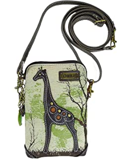 Chala Crossbody Cell Phone Purse-Women Canvas Multicolor Handbag with Adjustable Strap