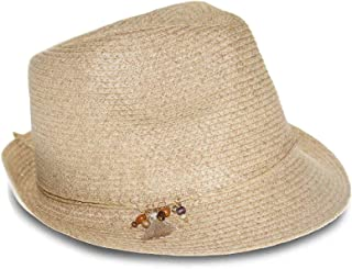 Charms Packable Fedora (Dark Beige, One Size)