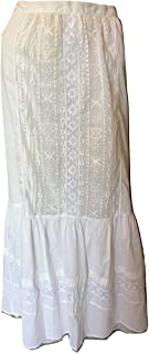 Johnny Was 4 Love and Liberty Womens' Moondance Embroidered Maxi Skirt, Antique, X-Large