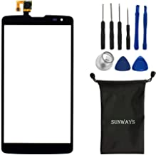 sunways Touch Digitizer Glass Screen Replacement for Verizon LG G Vista VS880 D631 with Device Opening Tools(Black)