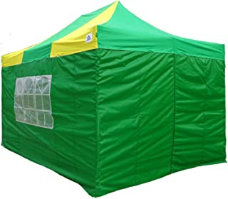 DELTA Canopies 10'x15' Pop up Canopy Wedding Party Tent Gazebo EZ Green/Yellow - F Model Commercial Frame