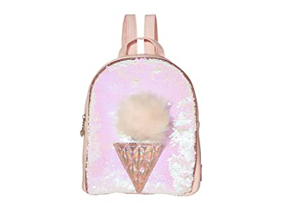 OMG! Accessories Sequin Ice Cream Mini Backpack (Pink) Backpack Bags
