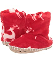Mistletoe Deer Fleece Slippers (Toddler/Little Kid)