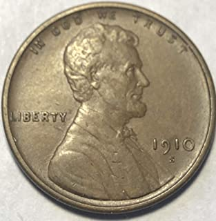 1910 S Lincoln Wheat Cent Penny Condition Almost Uncirculated