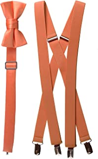 Tuxgear Bow Tie and Suspender Set Combo in Multiple Sizes and Colors