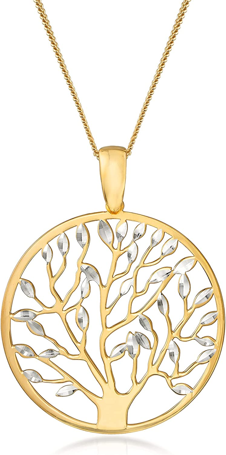 Ross-Simons Italian 18kt Gold Over Cut-Out Sterling Life Of Popular overseas Over item handling ☆ Tree