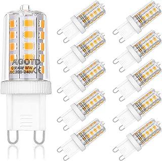 AGOTD 4W G9 LED Lampe, 2700k warmweiß Kein Flackern LED Leuchtmittel, 400 Lumen, Nicht Dimmbar 360 Grad Winkel, Ersatz 40W...