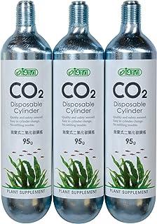 خرطوشة Co2 القابلة للاستعمال مرة واحدة من شركة غولفستريم تروبيكال AGU00519 عبوة من 3 عبوات للأحواض المائية، 95 جم