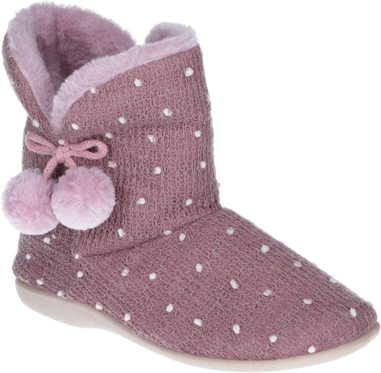 Fleet & Foster Womens Vancouver Slip On Boot Slippers purplec Size UK 5 EU 38