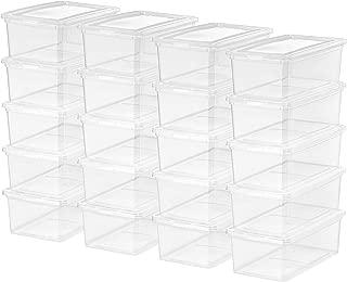 IRIS USA, Inc. CNL-5 Storage Box, 5 Quart, Clear, 20 Pack (Renewed)