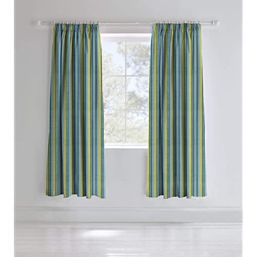 54fe8fd7a5cc Catherine Lansfield Dino Easy Care Pencil Pleat Curtains Multi, 66x72 Inch
