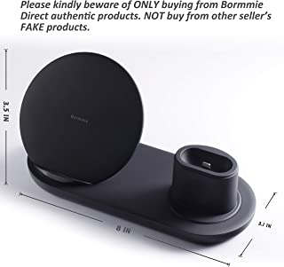 WATOE Wireless Charger, 3 in 1 Charging Stand for Apple Watch and Airpods,Qi Fast Wireless Charging Station Compatible for iPhone X/XS/XR/Xs Max/8/8 Plus Samsung Galaxy S9/S9+/S8/S8+/Note 8,Black