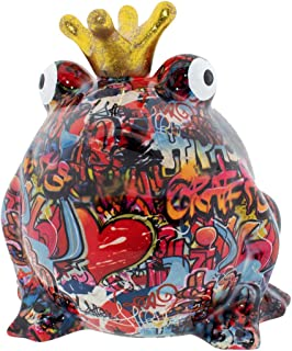 Tirelire Grenouille Grafitti Originale en c/éramique Cadeau Unique avec bo/îte-Cadeau Gratuite London Pomme pidou Tirelire Bodhis Freddy