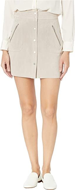 Suede Mini Skirt in Fawn