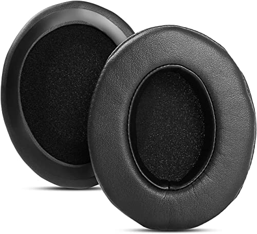 Ear Pads Cushions Cups Replacement Compatible with Turtle Beach Ear Force X12 PX22 PX24 PX3 PX51 Gaming Headset (Black Protein Leather)