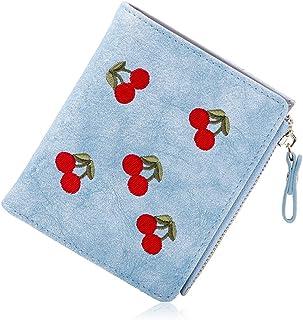 ミニ財布 レディース チェリー 二つ折り 小さい財布 手のり財布 金運アップ カワイイ 大容量 写真入れ コインケース 3*カードケース かわいい コンパクト 女性用 友達 家族 プレゼント