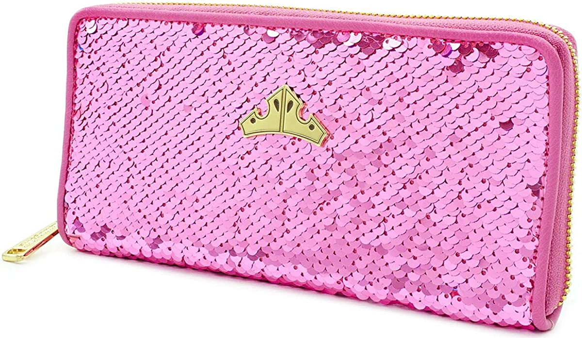 Loungefly National products x Disney Sleeping sold out Wallet Beauty Sequined Zip-Around