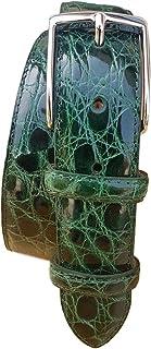 ESPERANTO Cintura in Fianco di Coccodrillo 35 mm - Smeraldo (Tg 52- LUNG TOTALE 120 CM-GIROVITA 105 CM)