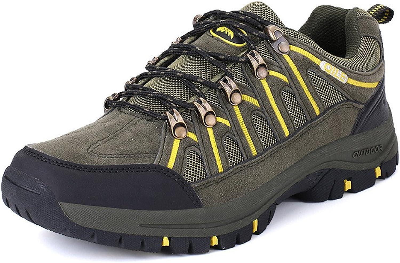BERTERI Men's and Women's Hiker Leather Anti-Skid Waterproof Hiking Boot Outdoor Backpacking shoes