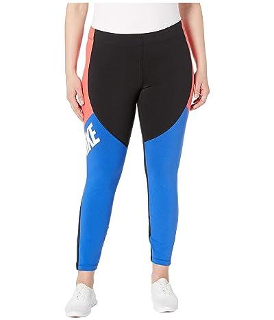 Nike Sportswear Legasee Leggings CB (Black/Ember Glow/Game Royal/White) Women